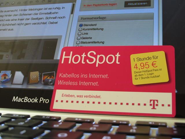 Unschlagbar teuer ist eine Stunde Hot Spot der Telekomiker für 4,95 Euro. Foto: Zenke