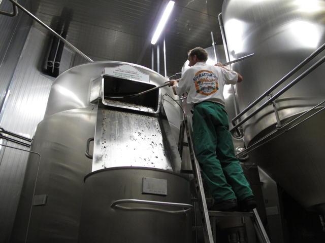 Der Weizenbottich im Brauhaus Mössingen dient der offenen Gärung. Foto: Zenke