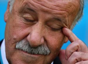 Trainer Vicente del Bosque kann mit Spanien nach dem letzten Vorrundenspiel am Montag die Heimreise antreten. FOTO: WITTERS