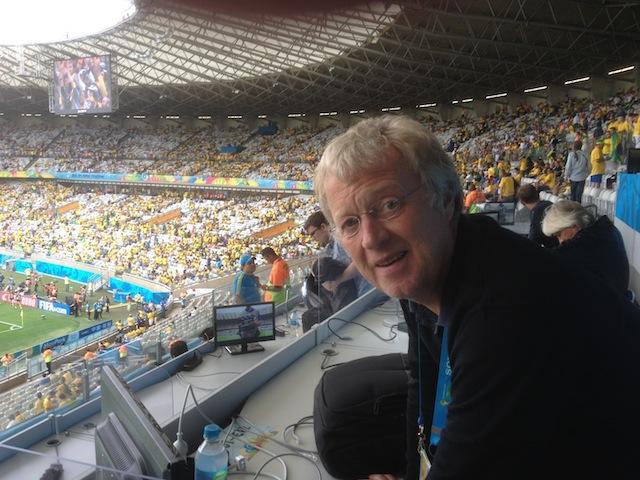 Unser Sportchef Christoph Fischer erlebte im Stadion live das historische 7:1. Foto: pr