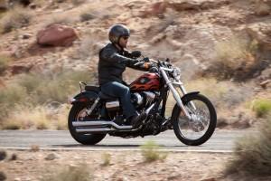 Wie geschaffen für die Route 66: eine Harley-Davidson »Wide Glide«. Foto: Harley-Davidson