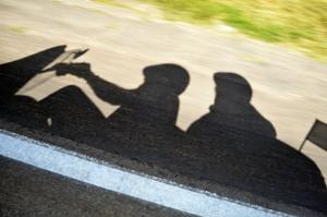 Schattenspiel auf der Route 66. Foto: co