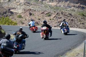 Motorradfahrer am Sitgreavespass. Foto: co