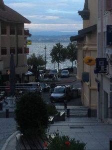 Leere Straßen in Evian. FOTO: FISCHER